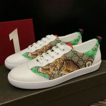 Gucci Man or Woman Fashion Edgy Print Pattern Casual Shoes