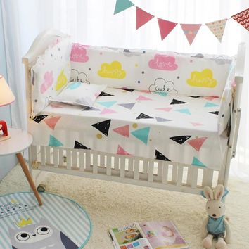10pcs Baby Bedding Set for Boy,Clouds Toddler Crib Bed Liner,Baby Bed Sheet Cover Crib Organizer,Baby Quilt Cot Bumper Comforter