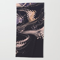 Static Beach Towel by duckyb