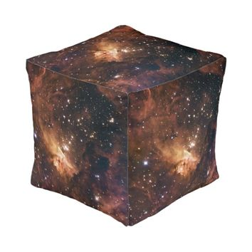 Pismis 24 brown starry NASA Cube Pouf