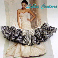 Wedding Bridal Garters Rhinestones and Pearls by lolliecouture