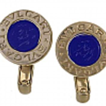 18K Gold Bvlgari Lapis Lazuli Earrings