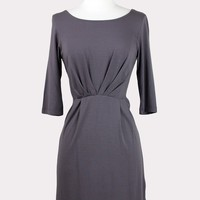 Pleated Front Knit Dress