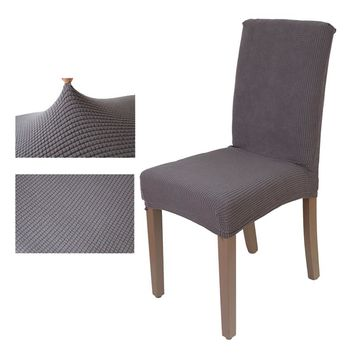 Jacquard checked Chair Cover Stretch seat Chair Covers Washable Dining Protector Slipcover for Hotel banquet Dining home decor