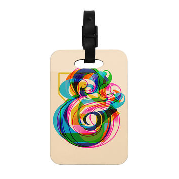 "Roberlan ""Champersands"" Digital Typography Decorative Luggage Tag"