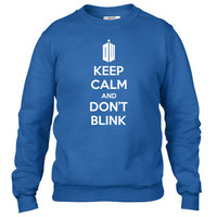 keep calm and dont blink Crewneck sweatshirt