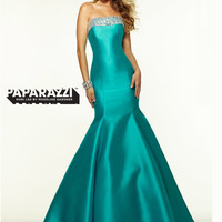 Strapless Beaded Trumpet Paparazzi Prom Dress By Mori Lee 97111