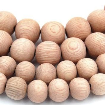 Natural UNWAXED Rosewood Beads 8mm, 10mm undyed wood beads -16 inch strand