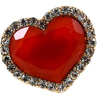 Huge-Hearted Ring - Red