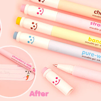 Buy Kawaii Milk Bottle Erasable Gel Ink Pen at Tofu Cute