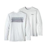 Patagonia Men's Long-Sleeved Graphic Tech Fish Tee | Bonefish Fitz Roy: Gypsum Green