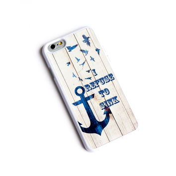 Refuse To Sink Anchor iPhone 6 Case Wood Aztec Wooded Native iPhone Case