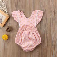 Newborn Kids Baby Girls Backless Clothes Jumpsuit Romper Bodysuit Sunsuit Outfit