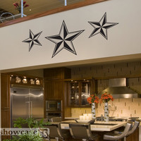 Large Nautical Stars Vinyl Wall Art FREE Shipping by showcase66