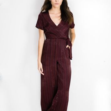 Stripe Side Tie Jumpsuit
