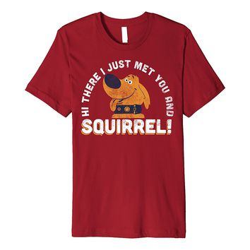 Disney Pixar UP Dug Just Met and SQUIRREL! Premium T-Shirt