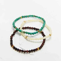 Profound Aesthetic 3 Beaded Bracelets- White One