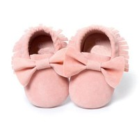 0-18M Baby Tassels and  Bowknot Shoes