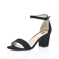 River Island Womens Black block heel sandals