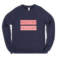 Sweater Weather-Unisex Navy Sweatshirt