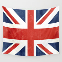 Union Jack Wall Tapestry by Laura Ruth