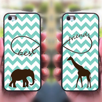 iPhone 5S case,Best Friends,iphone 5C case,iphone 5 case,iphone 4 case,iphone 4s,ipod case,Samsung and Blackberry Series,Elephant ,Giraffe