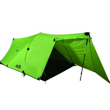 HIMAGET Tent 25D Nylon tent Silicone Coating 2 Person Double Layers Aluminum alloy Rod Camping Traveling Tent 4 Season