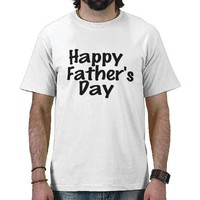 Black  White Happy Father's Day Text Design Shirt from