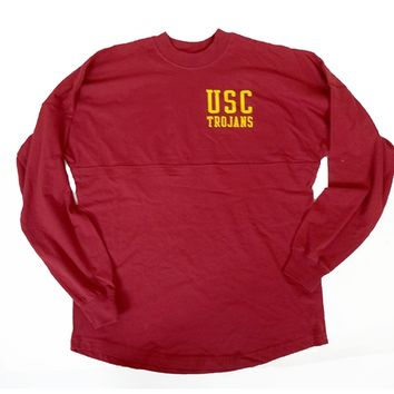USC Women's Cardinal RA RA Football LS T-Shirt - USC Bookstores
