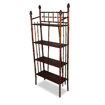 Bamboo Shelves with Acorn Details
