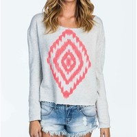 Billabong Ocean Love Pullover - Cool Wip Heather - J6033OCE				 |  			Billabong 					US