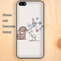 Elephant bubble blowing colorful iphone 6 case 6 plus iPhone 5 5S 5C case Samsung S3, S4,S5 case, Ipod touch Silicone Rubber Case, Phone cover