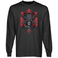 Houston Cougars Charcoal Shield of Arms Long Sleeve T-shirt