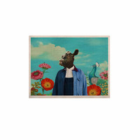 "Natt ""Family Portrait N2"" Blue Cow KESS Naturals Canvas (Frame not Included)"
