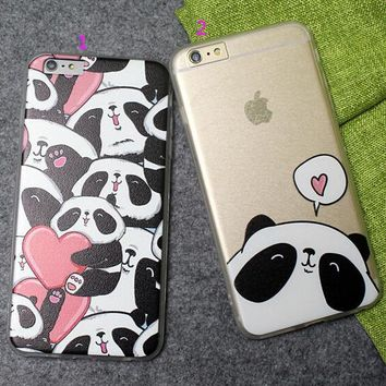 panda case ultrathin cover for iphone 5 6 6s plus 2