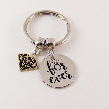 Valentine's day gift, girlfriend gifts, valentines day gifts for her, wife personalized gift, custom keychain for girlfriends, for ever.