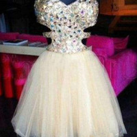 Custom Made A Line Short Prom Dresses, Short Graduation Dresses, Short Homecoming Dresses
