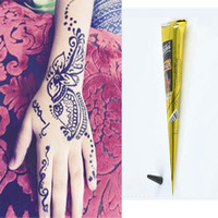 1Pc Black Natural Herbal Henna Cones Tube Natural Indian Temporary Tattoos Kit Body Art Painting Tool