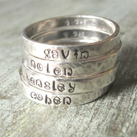 Hand Stamped Personalized Stacking Ring  by madebydawnrenee