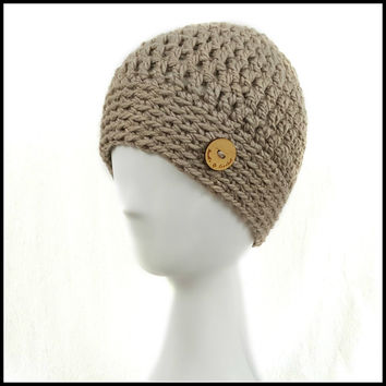 Chunky Taupe Hat