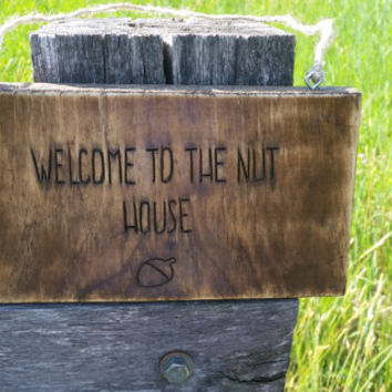 Welcome to the Nut House, Distressed Sign, Rustic Wood Sign, Welcome Sign, Wooden Sign, Cabin Sign, Cabin Decor, Front Door Sign