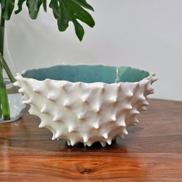 Blue Extra Large Conch Bowl - Modern Ceramic Bowl Large Ceramic Bowl Fruit Bowl Large Ceramic Indoor Planter Pot