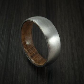 Men's Titanium Ring with Jack Daniel's Hardwood Sleeve