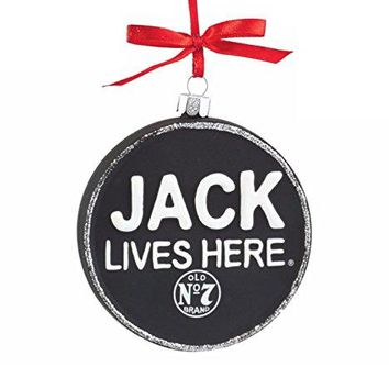 "Department 56 Jack Daniel's ""Jack Lives Here"" Glass Christmas Ornament #4052184"