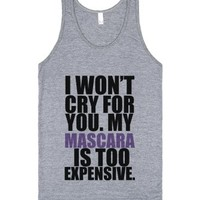C - Mascara (Expensive)-Unisex Athletic Grey Tank