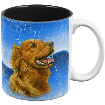 Golden Retriever Live Forever All Over Coffee Mug