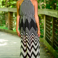 All Lined Up Maxi, Black