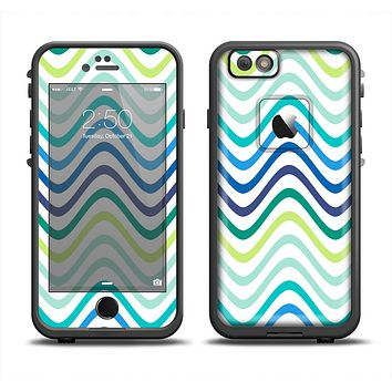 The Vibrant Fun Colored Pattern Swirls Apple iPhone 6 LifeProof Fre Case Skin Set