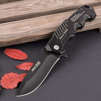 Black Blade Cold Steel Folding Pocket Knife Tactical Survival Knives Camping Knives camping Rescue Tools,Hot 2 sizes