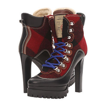 DSQUARED2 Lace-Up Heeled Winter Boot